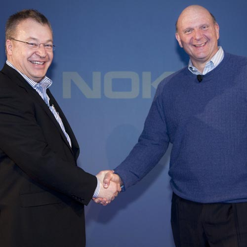 Nokia and Microsoft CEOs