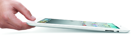 The iPad 2 will be thinner than even the iPhone 4. Image Credit: Apple
