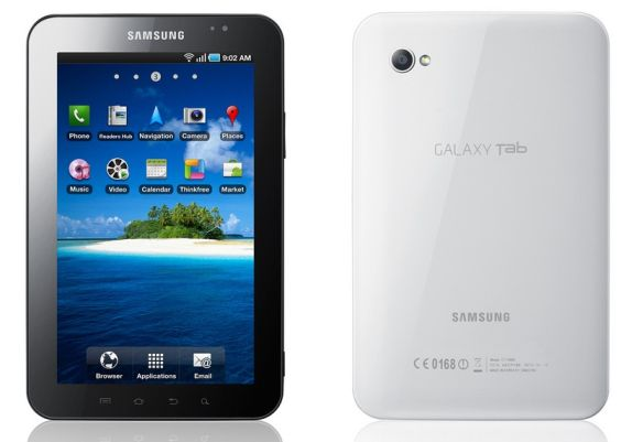 Front and back view of Samsung Galaxy
