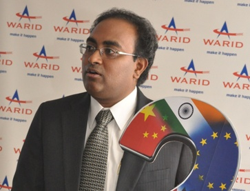 Warid Chief Commercial Officer Shailendra Naidu unveils Warid's new international calls rate UG X 2 per second