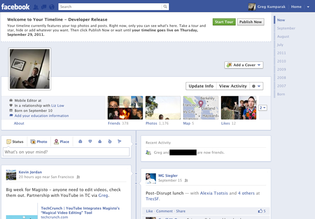 facebook testing new timeline format pc tech magazine