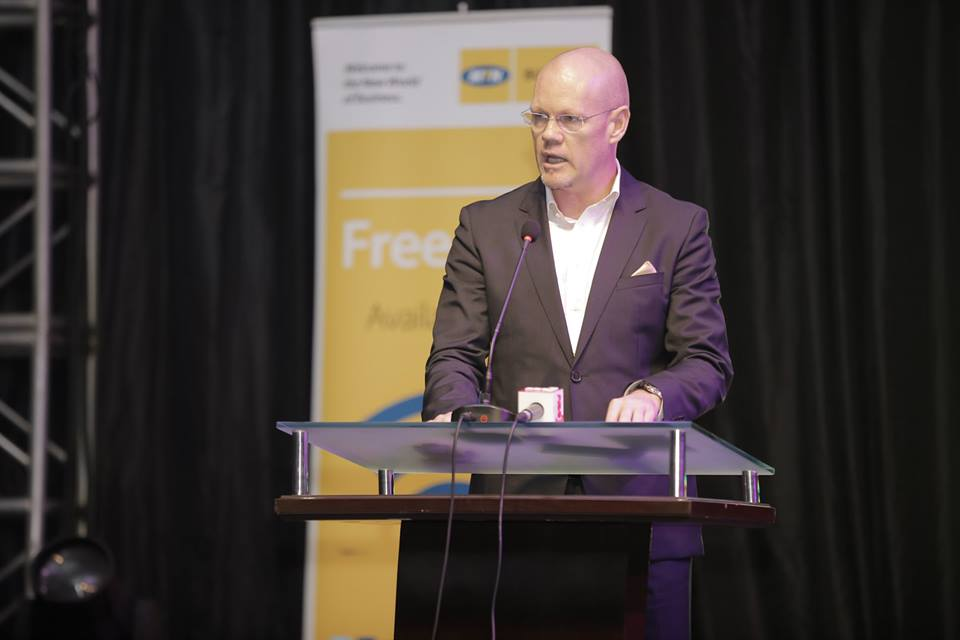 MTN Uganda CEO Brian Gouldie at the awards ceremony