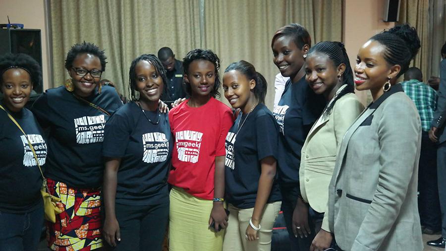 Participants at the 2014 edition of Ms Geek Rwanda. Photo Credit: MS Geek/Facebook