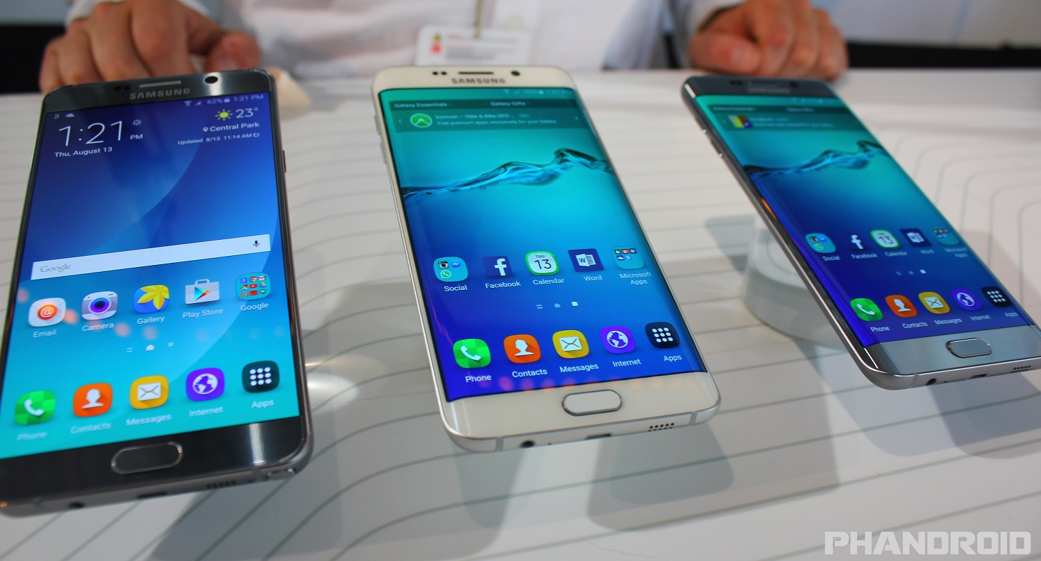 samsung debuts the galaxy note5 and s6 edge smartphones. Black Bedroom Furniture Sets. Home Design Ideas