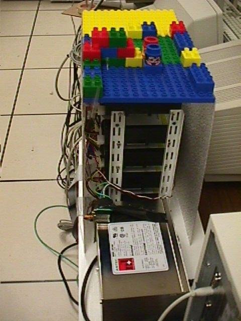 Sometimes you just gotta work with what you have. That's how you end up with a server made up of toy building blocks.