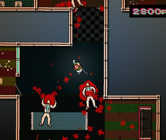 Hotline Miami is a pacey, arcadey, psychedelic romp through pixellated levels with a simple objective: kill everything. Photo credit: NDTV