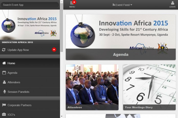 A screenshot of the Innovation Africa web app
