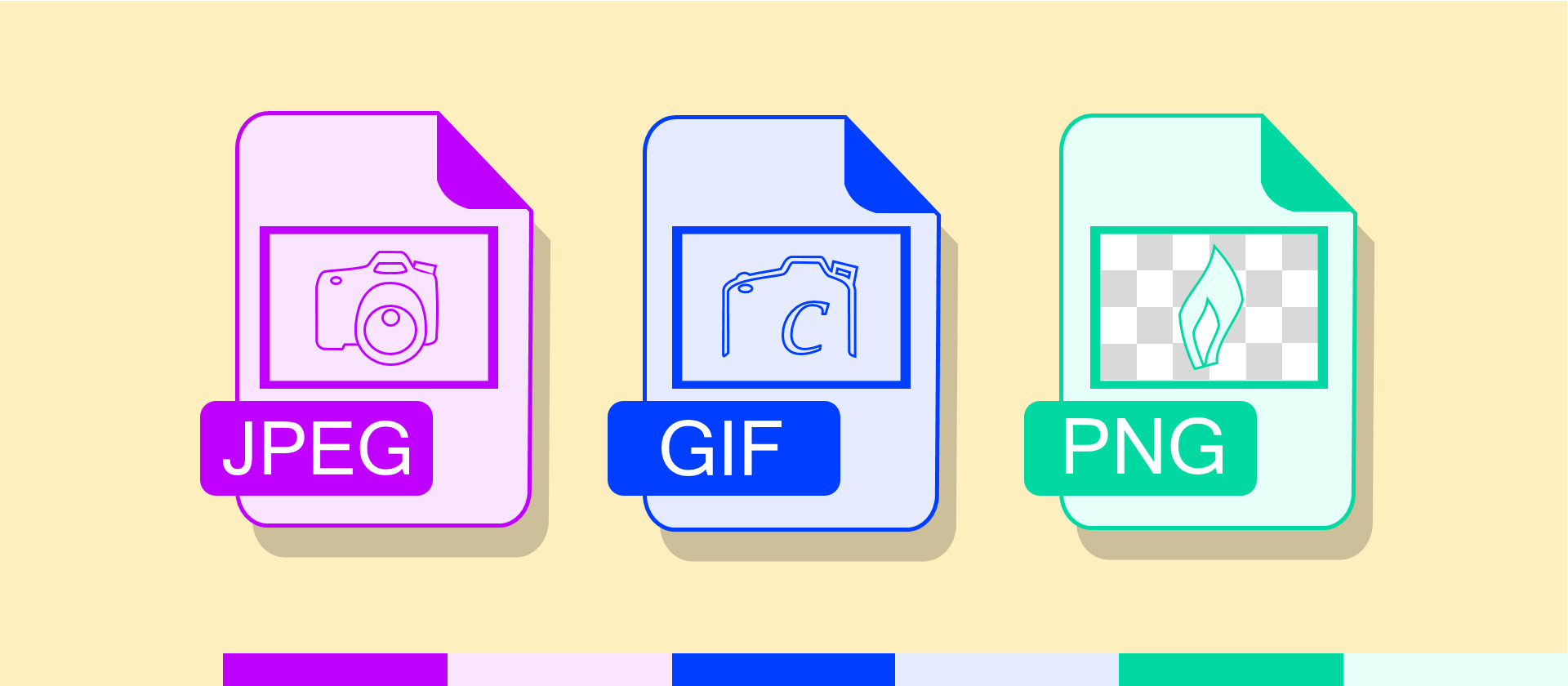 What is the difference between JPEG GIF and PNG