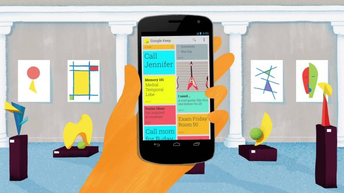 Google Keep takes notes that are easy on the eye