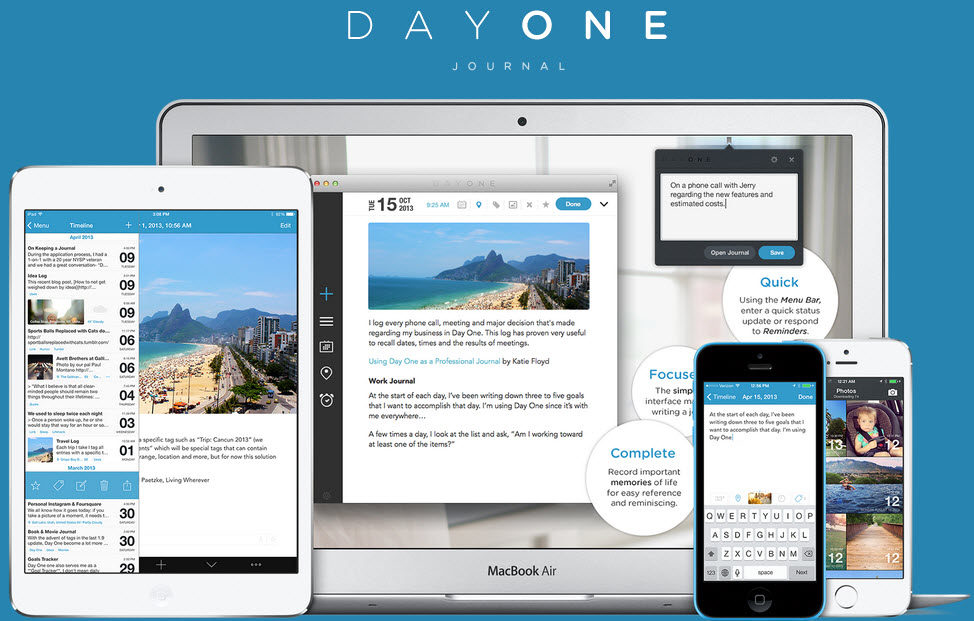 Record your memories with photos, videos, links, and more with Day One. Image Credit: LifeStreamBlog
