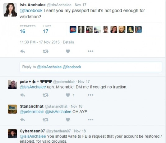 ISIS ANCHALEE reaction on Twitter after sending a couple of proof about her real identity.