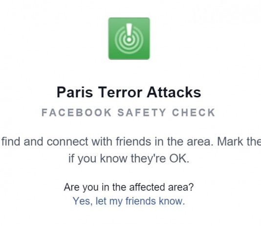 Facebook Inc. made a safety check tool available for people in the area to let friends know they were safe. Image Credit: Blogbaladi