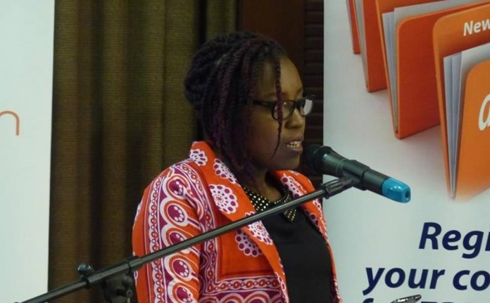 Ruth Aine speaking at the Social Media Summit last year.