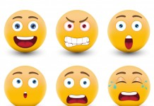 "Fast forward to today, 2015. Emoji are everywhere, and have greater meaning than ever. They've left their original home wedged in between ""LOL"" and ""omg"" or simply floating alone in a text bubble. Image Credit: DesignPrintDigital"