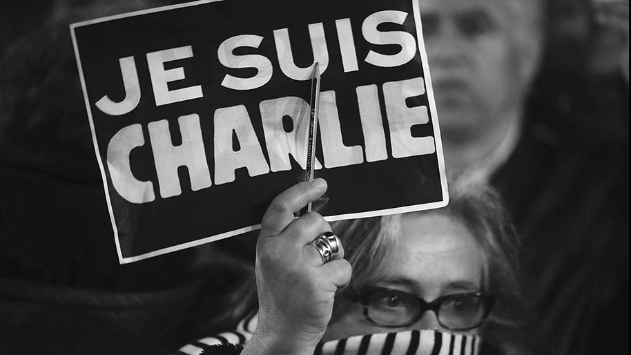 "After that incident, citizens rallied around the phrase ""Je Suis Charlie"" (meaning I am Charlie) to show their support and sorrow for the victims. Image Credit: USAToday"