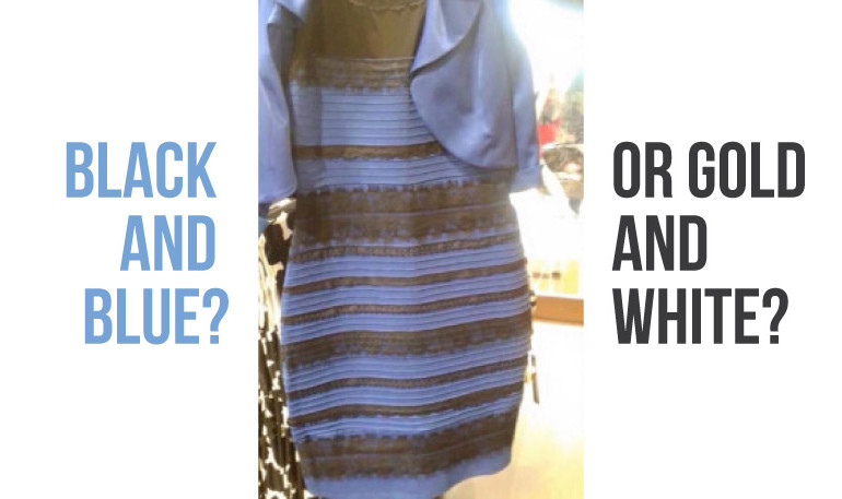 The dress seen in different light suddenly went viral, and captured the attention of millions of people. Image Credit: KevinMD
