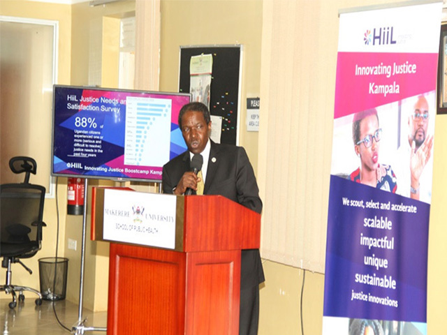 Makerere University School of Public Health Dean and RAN Chief of Party Prof William Bazeyo commended HiiL for choosing RAN as their partner for the HiiL 2016 event. Photo Credit: New Vision