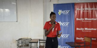 Vodafone Brand Ambassador Traveline Kezabu, a third year student was sharing her work experience with fellow Kampala International University students during the NSSF Career Expo yesterday. Vodafone partnership with NSSF on this cause is to inspire a generation of innovative, entrepreneurial and forward thinking young leaders with a can-do attitude