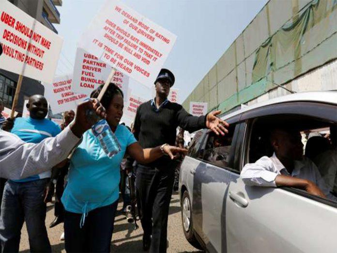 Uber kenya strike. Image Credit: PLive Kenya