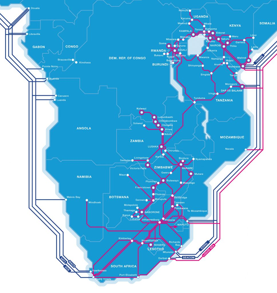 Liquid Telecom has built Africa's largest independent fiber network in Africa. (Photo Credit: LIQUID Telecom)