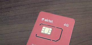Airtel 4G simcard. (Photo Courtesy)