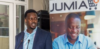 Ham Namakajjo; Jumia Country Director, Uganda speaking at the 2nd annual Jumia Mobile Report at the Skyz Hotel in Kampala, Uganda on Thursday 15th, March 2018. (Photo by: Nathan Ernest Olupot)