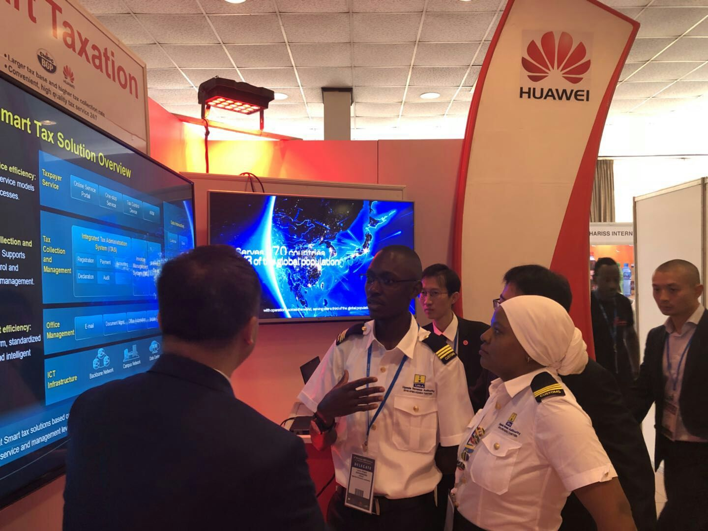 Exhibition Booths Kenya : Huawei contributes to world customs organization th