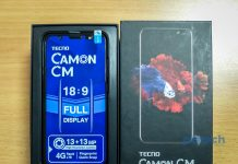 Unboxing the Tecno Camon CM.