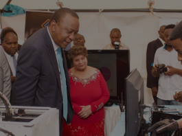 President Uhuru Kenyatta tours some of the exhibitors at the 3rd annual Nairobi Innovation Week in Kenya last year. (Photo Credit: NIW)