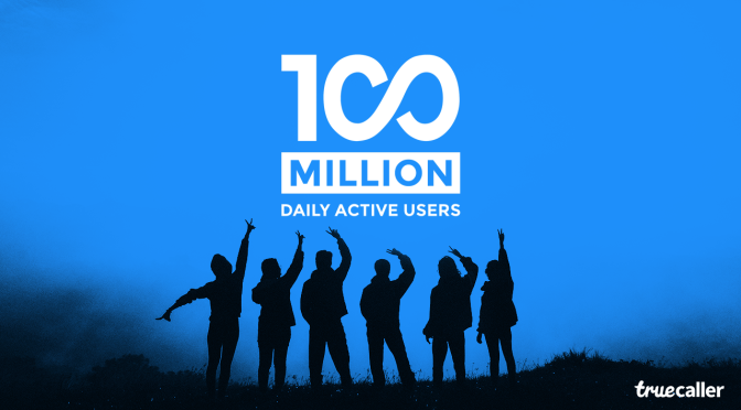 Truecaller records 100 million active users daily.