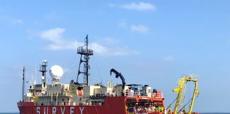 Huawei Marines' PEACE Project - Survey Vessel RV Ridley Thomas.