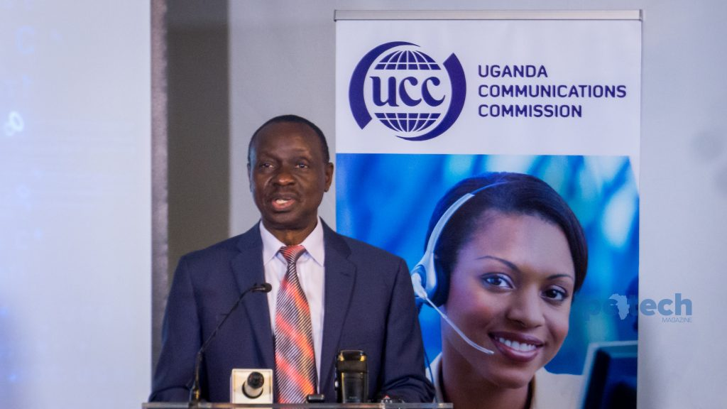 Patrick Masambu, Director-General of ITSO speaking at the launch of the pilot project for remote broadband connectivity in rural areas of Uganda on Friday 4th, May 2018.