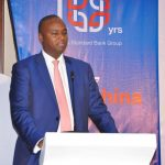 Patrick Mweheire; Stanbic Bank Uganda CEO at the celebration forum.