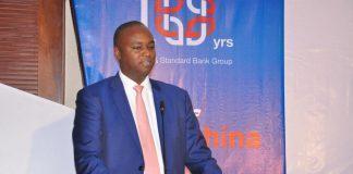 Patrick Mweheire; Stanbic Bank Uganda CEO at the celebration forum.