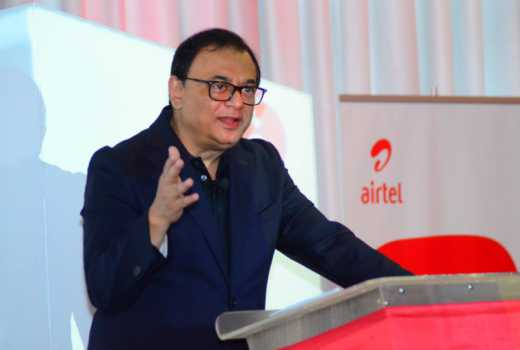 Airtel Kenya Managing Director Prasanta Das Sarma speaking during the launch of 4G network in Nairobi today May 2,2018.(James Wanzala, Standard Media Kenya)