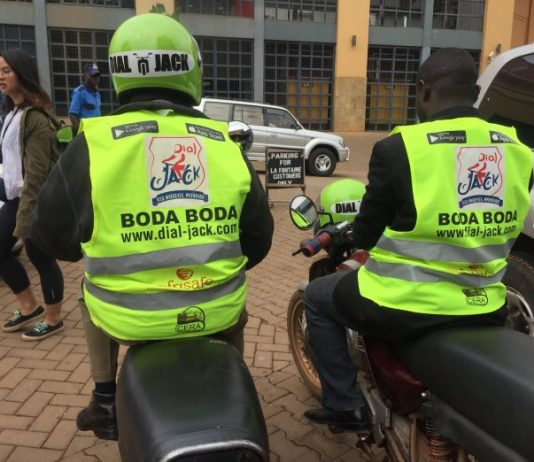 Pictured are some of the new DialJack boda riders. The new hailing service was launched on Wednesday, 20th June, 2018 at the Brood in Bukoto. (Photo Credit: Guru8 Team)