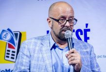 MTN Uganda's Chief Marketing Officer;Olivier Prentout speaking during the launch of Kwese Iflix Platform in Uganda on Tuesday 12th, June 2018 at The Square Palace in Kampala, Uganda.