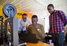 Team Matibabu of Uganda, (R to L); Shafik Sekitto, Brian Gitta, and Atwine Morris.