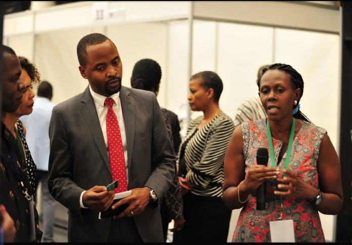 Sarah Atuhaire Baryaija; Co-Founder and Finance Manager & Operations at Akabox Uganda, representing their team at the 2018 Africa Innovation Summit in Kigali, Rwanda from 6th to 9th June 2018 at Kigali Convention Center. (Photo Courtesy: Akabox)
