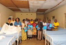 New look - MTN and Oriajin Hospital staff pose for a group photo in one of the Wards that benefitted from MTN Foundations' donation under its Access to Health Initiative.