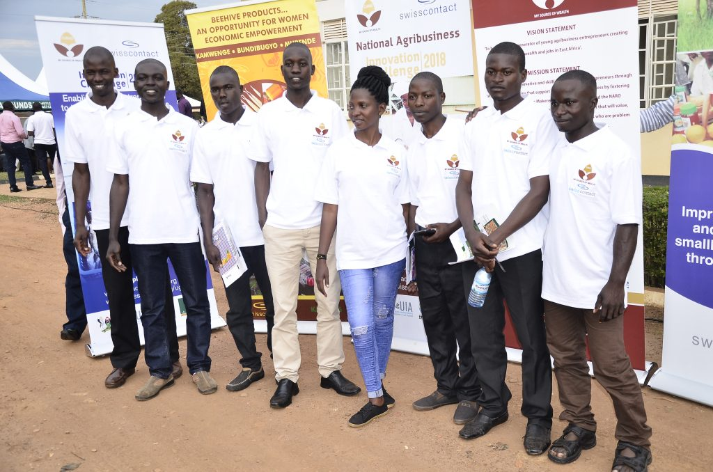 Beneficiaries of the CURAD initiative pose for a picture after the launch of the CURAD Agribusiness Challenge.