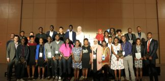 The 2018 Social Venture Challenge Winners pose for a group photo in Kigali, Rwanda. (Photo Courtesy)