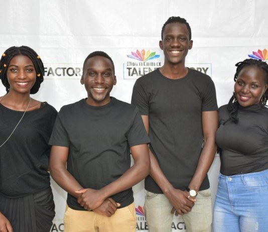 (L-R) Cissy Nalumansi, Aaaron Tamale, Casey Lugada and Hilda Awori MultiChoice Talent Factory students from Uganda.