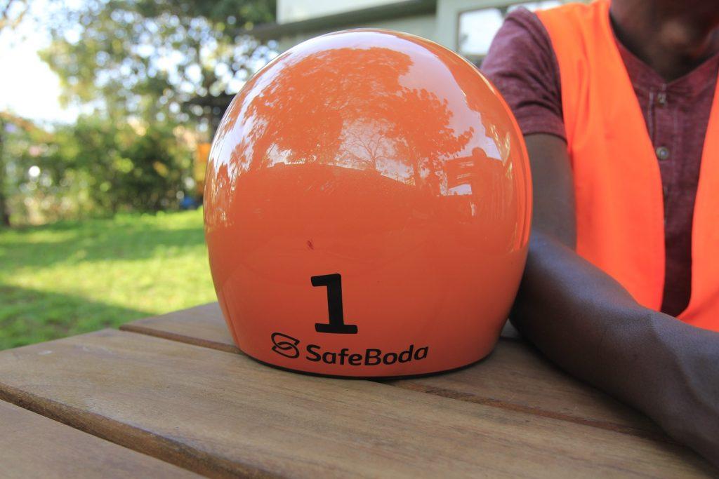 Helmet number 1. (Photo Credit: Humphrey Mpairwe)