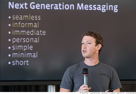 Facebook's engineers have spent a year putting together a new messaging system, CEO Mark Zuckerberg said.