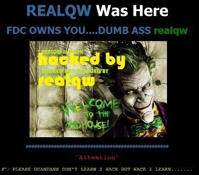 DP Website after being hacked