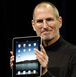 Steve Jobs with the iPad