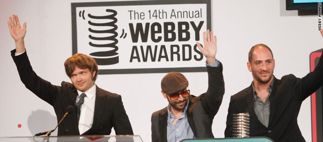 The band OK Go received the 2010 Webby Award for film and video.
