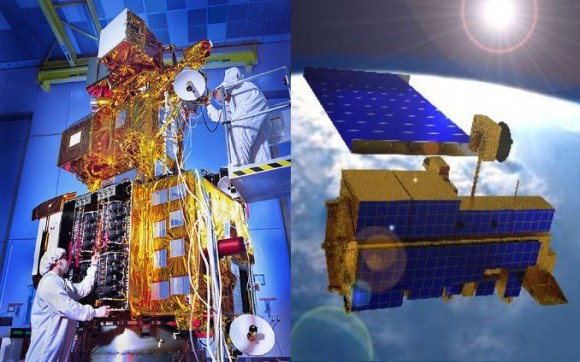 Landsat-7 and Terra EOS satellites