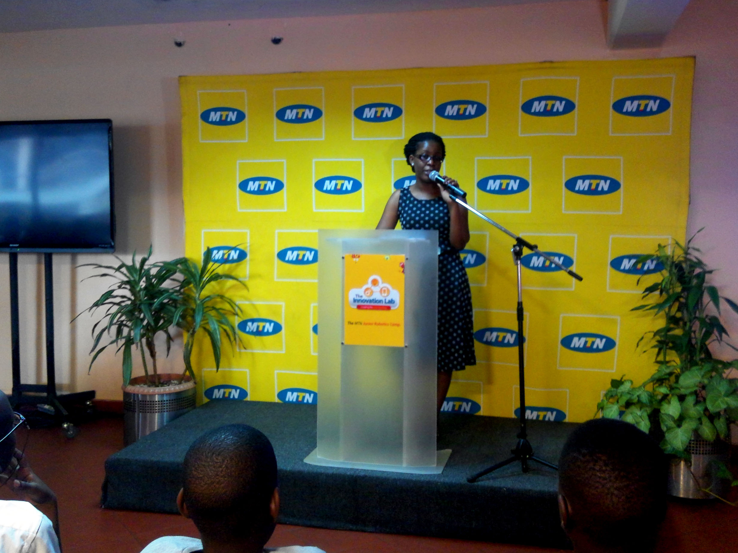 Ms Susan Kayemba, Senior Manager Retention and Social Media giving her opening remarks
